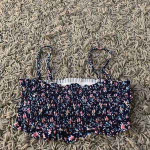 Flower bikini top bandeau